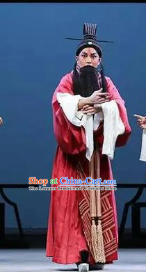 Confucius Chinese Kun Opera Elderly Male Costumes and Headwear Kunqu Opera Laosheng Garment Apparels