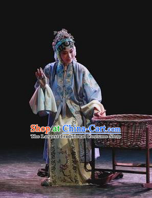 Chinese Kun Opera Hua Tan Apparels Costumes and Headdress Kunqu Opera Tu An Gu Young Lady Dress Actress Princess Garment