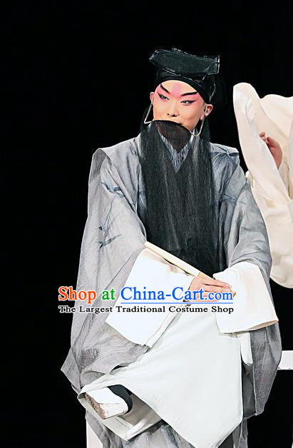 Blossoms on A Spring Moonlit Night Chinese Kun Opera Elderly Male Costumes and Headwear Kunqu Opera Laosheng Garment Calligrapher Zhang Xu Apparels