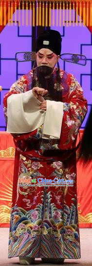 Full Bed Wat Chinese Kun Opera Elderly Male Costumes and Headwear Kunqu Opera Official Embroidered Robe Garment Laosheng Apparels