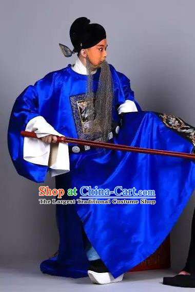 Xiu Ru Ji Chinese Kun Opera Elderly Man Costumes and Headwear Kunqu Opera Laosheng Garment Apparels Official Zheng Dan Clothing