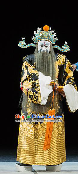Continue the Pipa Chinese Kun Opera Elderly Male Costumes and Headwear Kunqu Opera Laosheng Garment Apparels Cao Cao Clothing