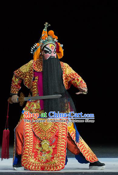 Continue the Pipa Chinese Kun Opera Martial Male Costumes and Headwear Kunqu Opera General Garment Apparels