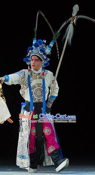Continue the Pipa Chinese Kun Opera Wusheng Martial Male Costumes and Headwear Kunqu Opera Young Man Garment Takefu Apparels