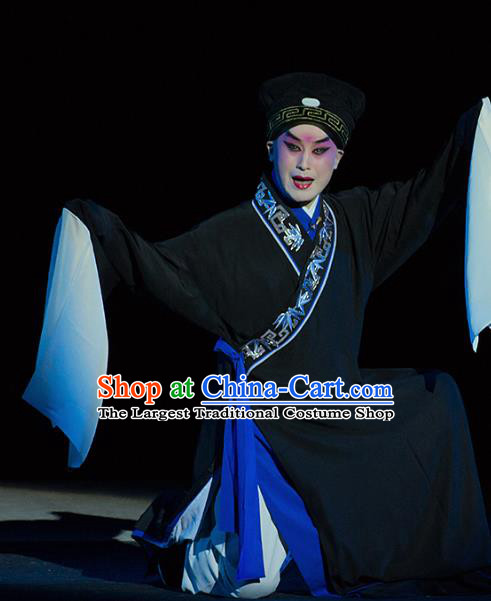 Chinese Kun Opera Young Man Continue the Pipa Costumes and Headwear Kunqu Opera Scholar Garment Xiaosheng Apparels