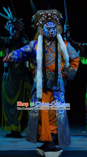 Chinese Kun Opera Takefu Continue the Pipa Costumes and Headwear Kunqu Opera Wusheng Garment Martial Male Apparels