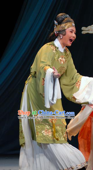 Chinese Shaoxing Opera Lao Dan Costumes Yu Qing Ting Apparels Yue Opera Garment Elderly Female Dress and Headdress