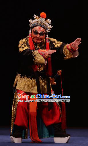 The Prophetic Paintings Chinese Kun Opera Chou Role Apparels Costumes and Headwear Kunqu Opera Garment Court Eunuch Clothing