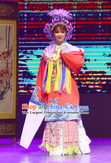Chinese Shaoxing Opera Hua Tan Dress Yue Opera Diva Garment Costumes The Arrogant Princess Court Lady Apparels and Phoenix Coronet