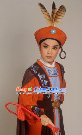 Chinese Shaoxing Opera Garment Classical Yue Opera Desert Prince Apparels Young Male Costumes and Hat