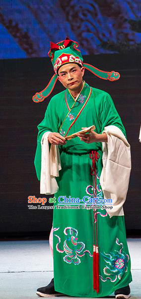 Chinese Huangmei Opera Bully Garment Goddess Marriage Costumes and Headwear An Hui Opera Young Male Apparels Clothing