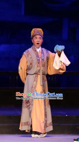 Chinese Huangmei Opera Rich Childe Female Consort Prince Garment Costumes and Headwear An Hui Opera Young Male Apparels Clothing
