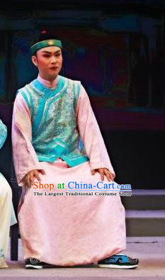 Chinese Huangmei Opera Young Male Costumes and Headwear An Hui Opera Niche Apparels Scholar Clothing