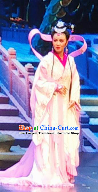 Chinese Huangmei Opera Daughter of Dragon Garment Princess Yun Hua Costumes and Headpieces Traditional Anhui Opera Hua Tan Dress Apparels