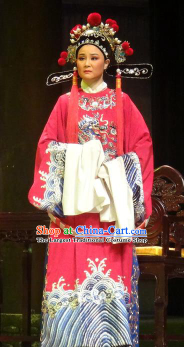 Chinese Huangmei Opera Number One Scholar Female Consort Prince Garment Costumes and Headwear An Hui Opera Xiaosheng Li Zhaoting Apparels Clothing