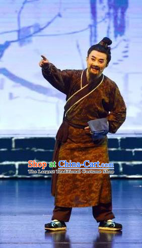 Chinese Huangmei Opera Garment Taibai Drunk Costumes and Headwear An Hui Opera Boatman Apparels Clothing