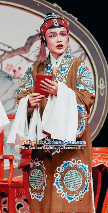 Chinese Shaoxing Opera Elderly Female Dress The Jade Hairpin Yue Opera Costumes Noble Dame Apparels Garment and Headwear