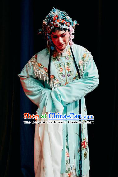 Chinese Shaoxing Opera Young Woman Dress The Jade Hairpin Yue Opera Diva Costumes Apparels Patrician Lady Garment and Headpieces