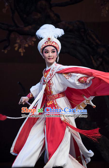 Chinese Shaoxing Opera Young Man Garment Classical Yue Opera Desert Prince Niche Luo Lan Apparels Costumes and Headpiece