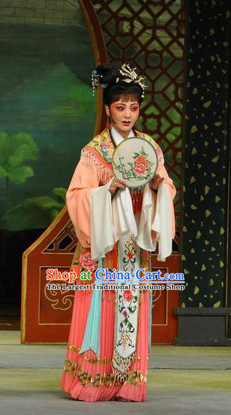 Chinese Shaoxing Opera Dream of the Red Chamber Rich Lady Dress Yue Opera Hua Tan Costumes Garment Actress Apparels and Hair Ornaments