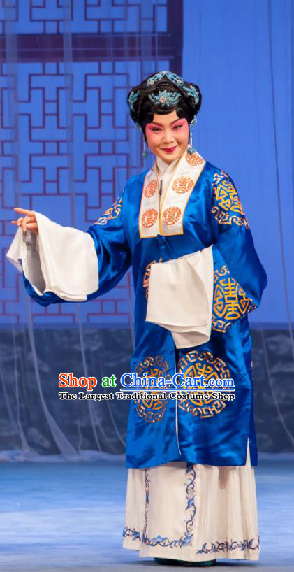 Chinese Ping Opera Rich Dame Costumes Apparels and Headpieces Traditional Pingju Opera Geng Niang Dress Elderly Female Garment