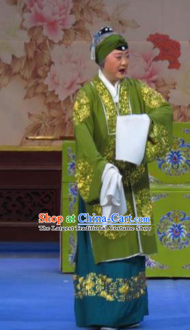 Chinese Ping Opera Zhu Hen Ji Old Dame Apparels Costumes and Headdress Traditional Pingju Opera Pantaloon Dress Garment
