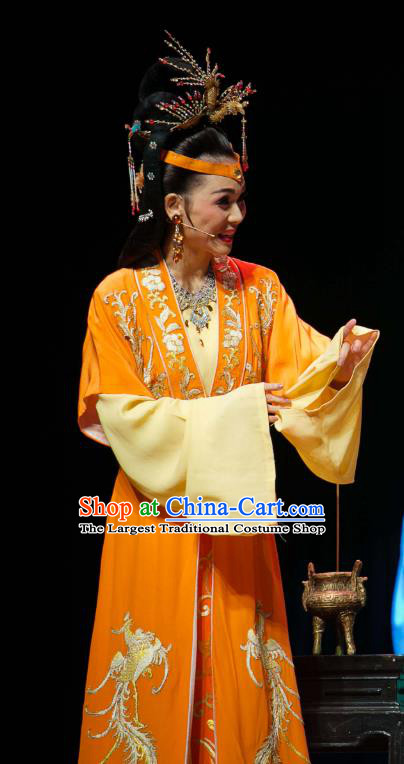 Chinese Huangmei Opera Young Mistress Wang Xifeng Garment Costumes and Headpieces Dream of Red Mansions Traditional Anhui Opera Hua Tan Dress Apparels