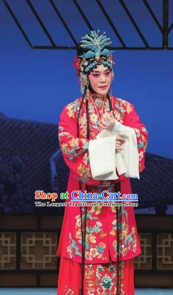 Chinese Ping Opera Hua Tan Actress Apparels Costumes and Headdress Zhen Zhu Shan Traditional Pingju Opera Young Female Wang Sanqiao Dress Garment