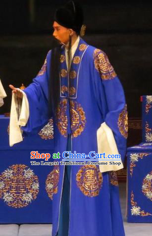 Zhen Zhu Shan Chinese Ping Opera Laosheng Costumes and Headwear Pingju Opera Apparels Landlord Elderly Male Clothing