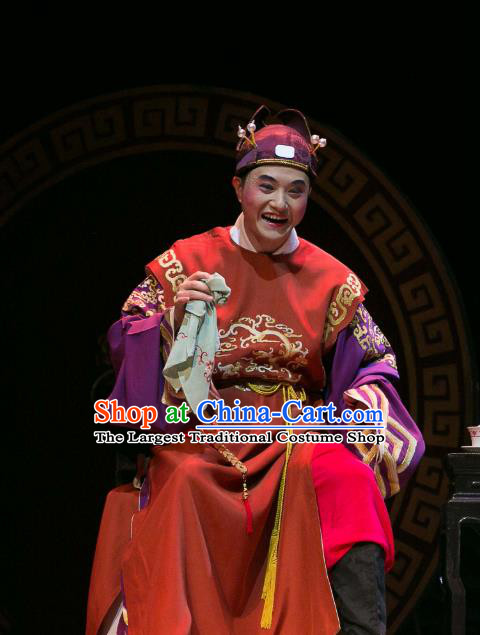 Dream of Red Mansions Chinese Huangmei Opera Rich Childe Costumes and Headwear Chun Jiang Yue An Hui Opera Young Male Xue Pan Apparels Clothing