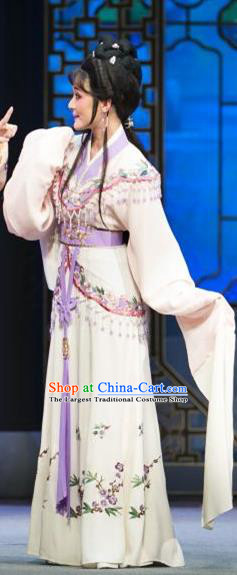 Chinese Shaoxing Opera Young Lady Dream of the Red Chamber Dress Apparels Yue Opera Costumes Garment and Hair Jewelry