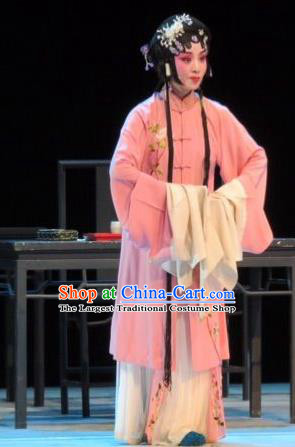 Chinese Ping Opera Widow Diva Apparels Costumes and Headpieces Liang Xiao Traditional Pingju Opera Distress Female Li Xiuru Dress Garment