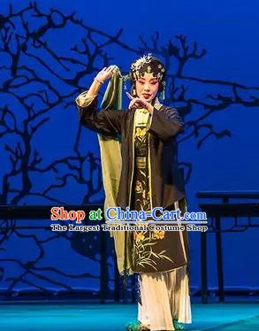 Chinese Ping Opera Xiaodan Apparels Costumes and Headpieces Liang Xiao Traditional Pingju Opera Young Lady Dress Garment