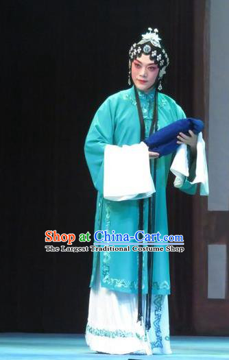 Chinese Ping Opera Hua Tan Garment Costumes and Headdress Bao Gong San Kan Butterfly Dream Traditional Pingju Opera Young Female Dress Apparels