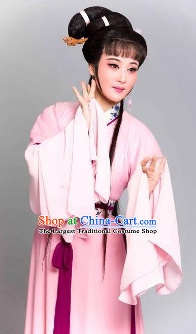 The Story of Hairpin Chinese Shaoxing Opera Civilian Female Dress Apparels Yue Opera Costumes Qian Yulian Garment and Headpieces