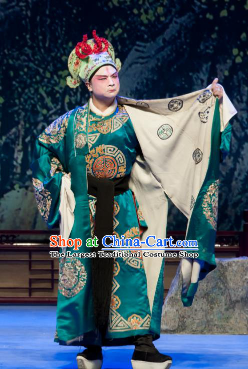 Chinese Ping Opera Bully Ge Biao Bao Gong San Kan Butterfly Dream Costumes and Headwear Pingju Opera Young Male Apparels Clothing