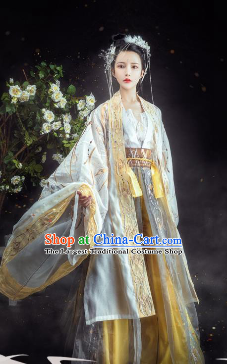 Chinese Tang Dynasty Court Princess Historical Costumes Ancient Goddess Hanfu Dress Traditional Woman Apparels