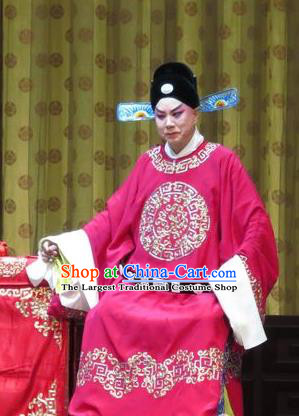 Jin Yunu Chinese Ping Opera Young Male Costumes and Headwear Pingju Opera Official Mo Ji Apparels Scholar Clothing