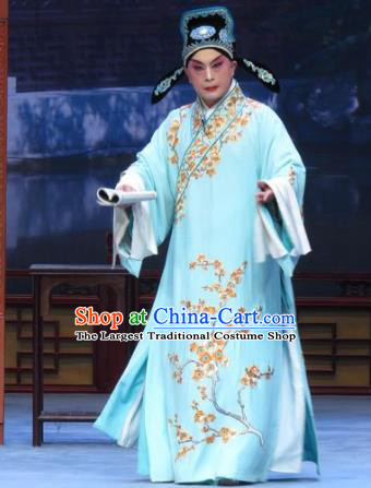 Xue Yu Bing Shuang Chinese Ping Opera Scholar Shang Lin Costumes and Headwear Pingju Opera Young Male Apparels Niche Robe Clothing