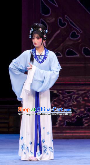 Chinese Ping Opera Young Lady Apparels Costumes and Headpieces Nao Yan Fu Traditional Pingju Opera Diva Dress Garment