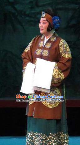 Chinese Ping Opera Elderly Woman Apparels Costumes and Headpieces The Five Female Worshipers Traditional Pingju Opera Dame Dress Garment