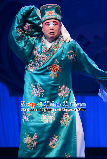 Remember Back to the Cup Chinese Ping Opera Chou Role Costumes and Headwear Pingju Opera Clown Male Apparels Clothing