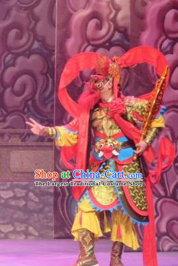 Legend of Love Chinese Ping Opera Heaven General Costumes and Headwear Pingju Opera Wusheng Apparels Clothing