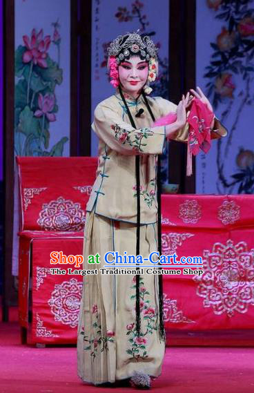 Chinese Ping Opera Actress Apparels Costumes and Headpieces Remember Back to the Cup Traditional Pingju Opera Diva Dress Garment