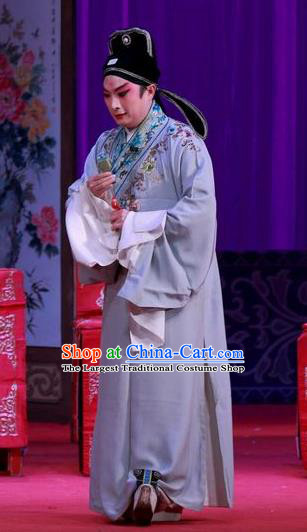 Remember Back to the Cup Chinese Ping Opera Young Man Zhang Tingxiu Costumes and Headwear Pingju Opera Xiaosheng Scholar Apparels Clothing