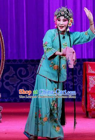 Chinese Ping Opera Young Woman Apparels Costumes and Headpieces Remember Back to the Cup Traditional Pingju Opera Hua Tan Wang Yuying Dress Garment