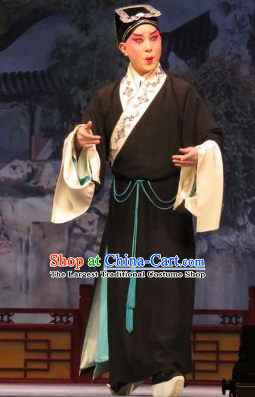 Remember Back to the Cup Chinese Ping Opera Poor Scholar Zhang Tingxiu Costumes and Headwear Pingju Opera Xiaosheng Apparels Clothing