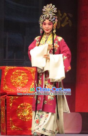 Chinese Ping Opera Remember Back to the Cup Apparels Costumes and Headpieces Traditional Pingju Opera Hua Tan Dress Garment