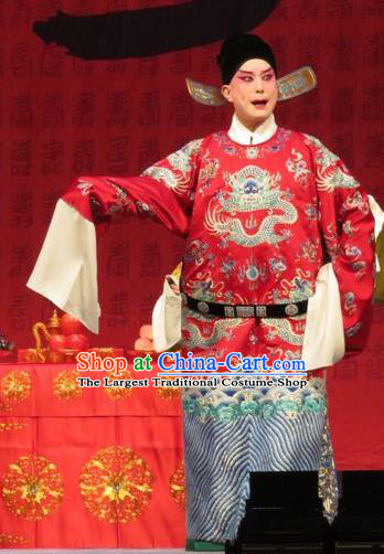 Remember Back to the Cup Chinese Ping Opera Young Male Zhang Tingxiu Costumes and Headwear Pingju Opera Number One Scholar Apparels Clothing