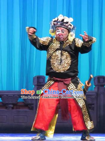 Yang Bajie You Chun Chinese Ping Opera Wusheng Costumes and Headwear Pingju Opera Figurant Male Apparels Clothing